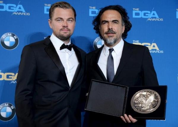 DiCaprio-e-Alejandro-Inarritu-alla-premiazione-dei-DAG-Awards